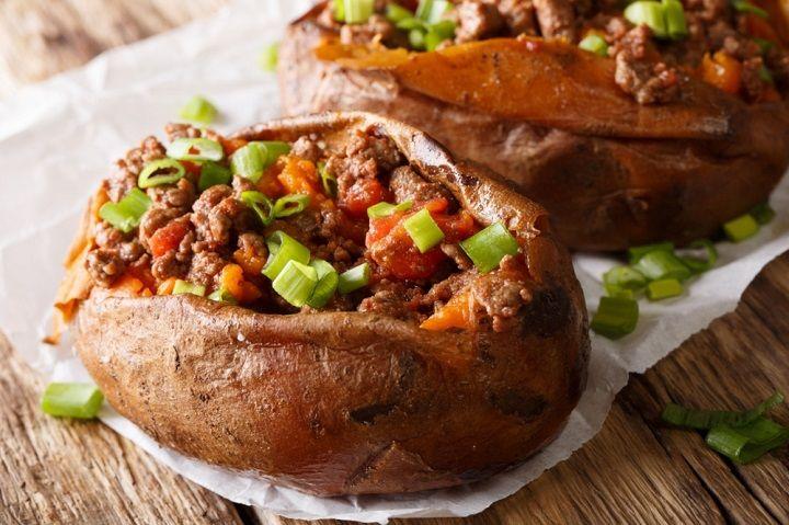 Beefy Stuffed Sweet Potato