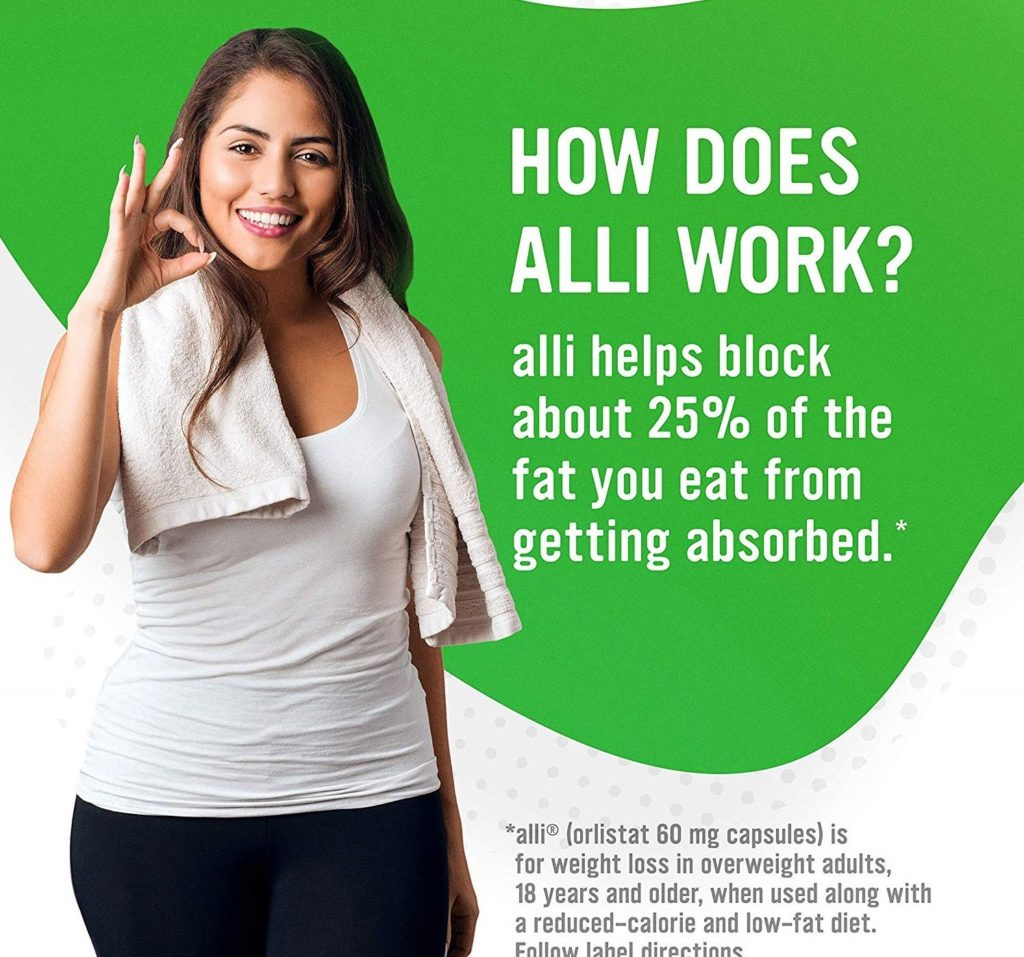 How does Alli weight loss pills work