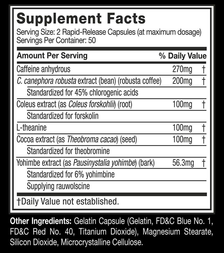 muscletech hydroxycut hardcore elite ingredients